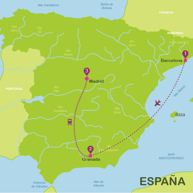 Spain in 10 days for independent travellers