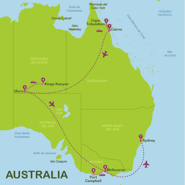 Australia in 14 days for independent travellers (Oct-May)