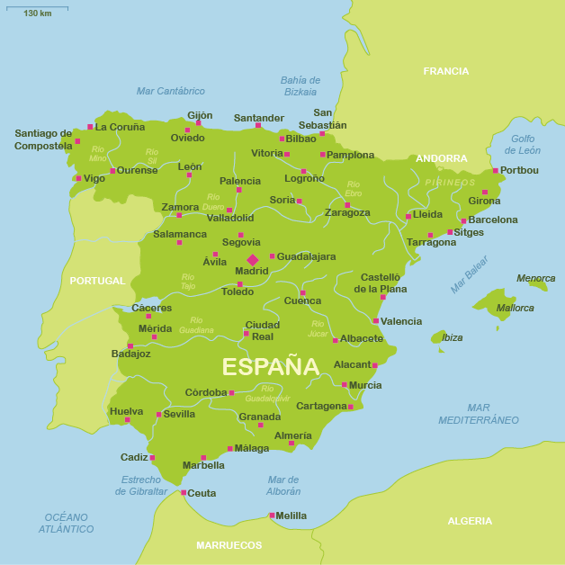 Mapas tur sticos de espa a plano de espa a - Viaje de novios espana ...