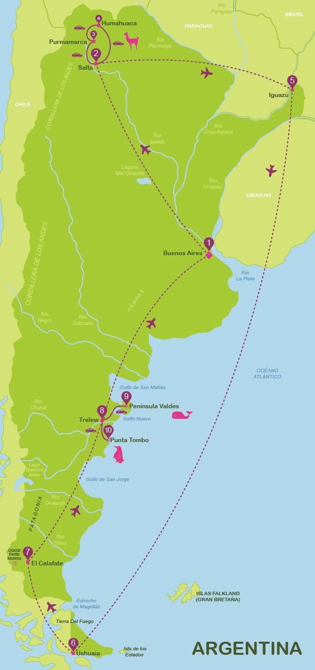 Mapa y plano Argentina