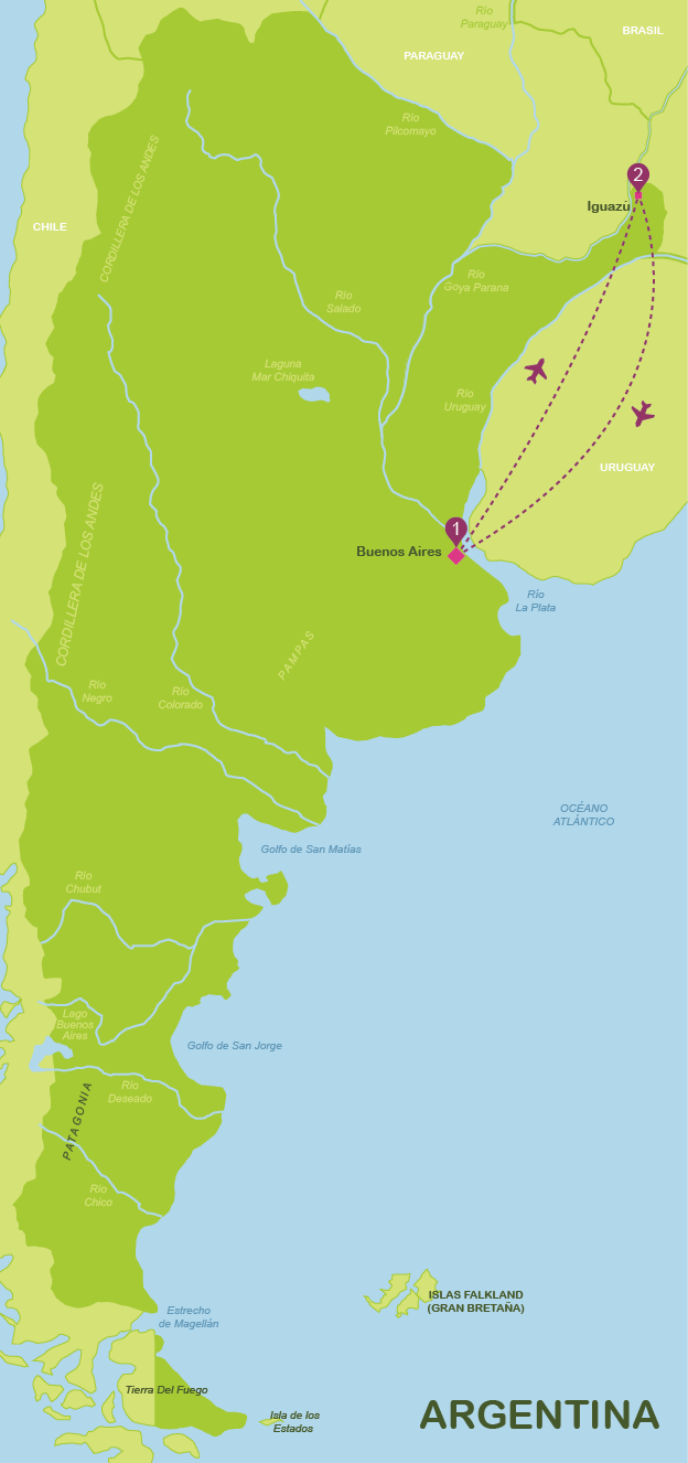 viajar a Argentina en 8 días (jul-dic)