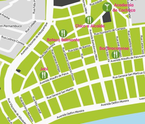 Mapa Ruta Botecos Leblon