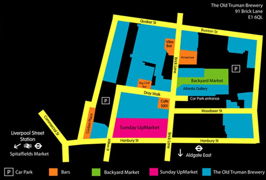 Sunday Up Market mapa