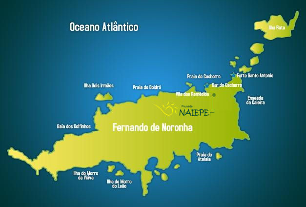 mapa posada Fernando Noronha
