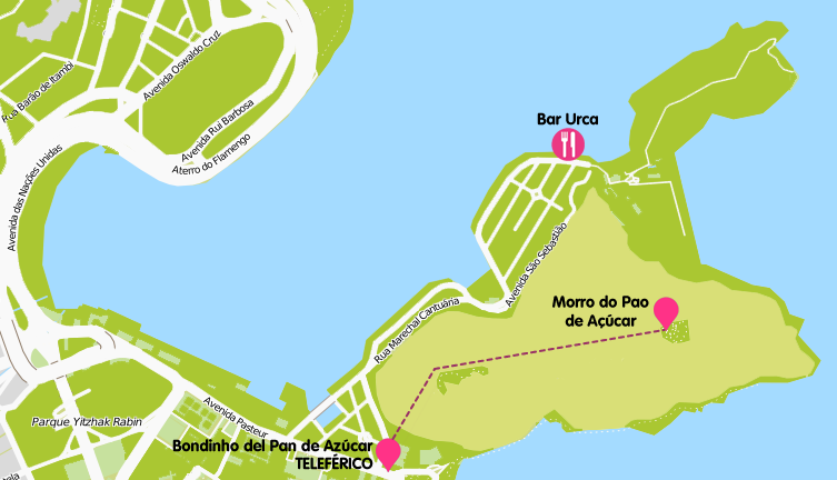 Mapa y plano Pan de Azúcar, Brasil