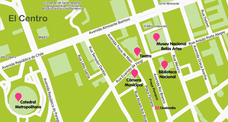 Mapa y plano El Centro de Rio de Janeiro