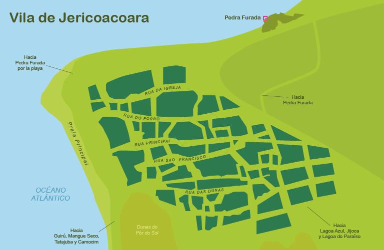 Mapa y plano Villa de Jericoacoara