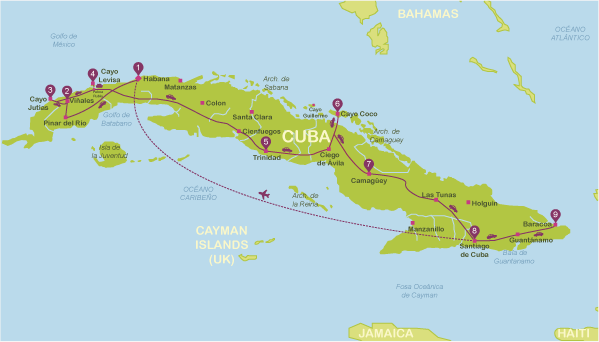 mapa de cuba Mapas turísticos de Cuba | Plano de Cuba mapa de cuba