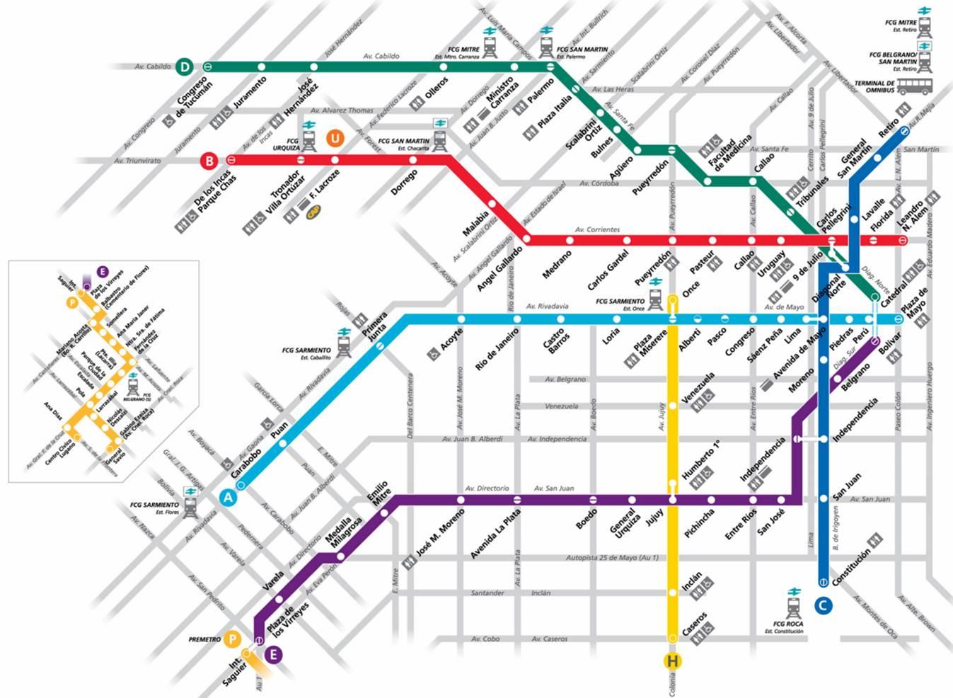 Buenos Aires subte mapa