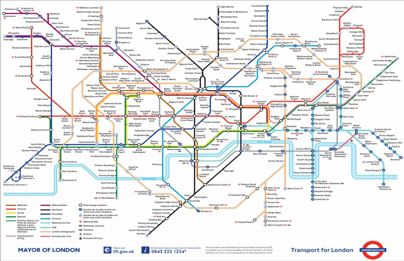 Londres metro mapa
