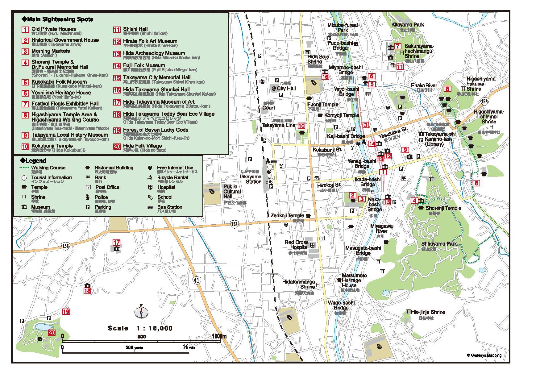 Mapa Takayama