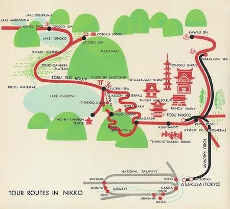 Mapa Nikko