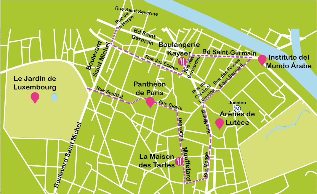 Mapa Barrio Latino París