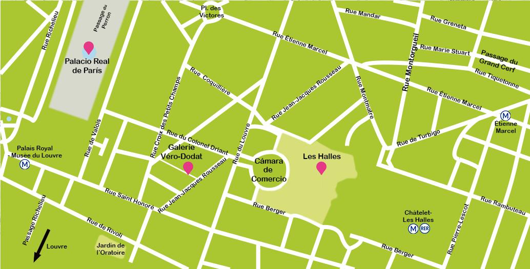 Mapa París Les Halles