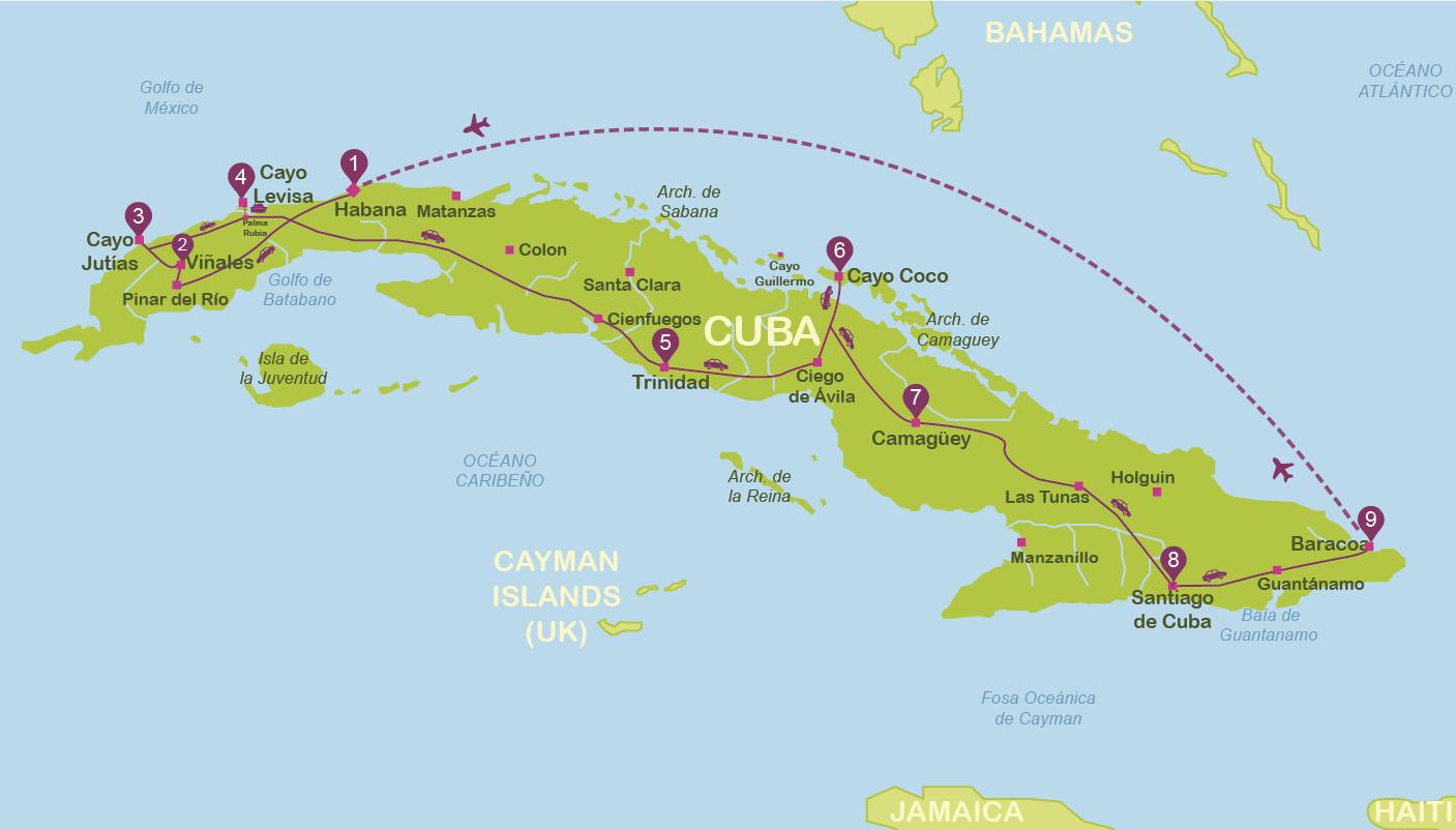 viajar a Cuba en dos semanas