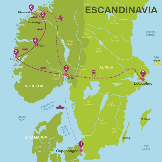 viajar a Escandinavia en 15 días
