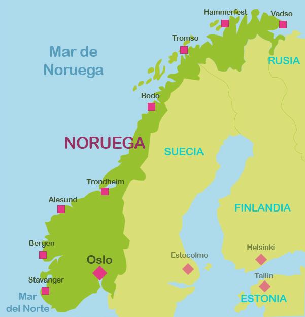 Mapas Turisticos De Noruega Plano De Noruega