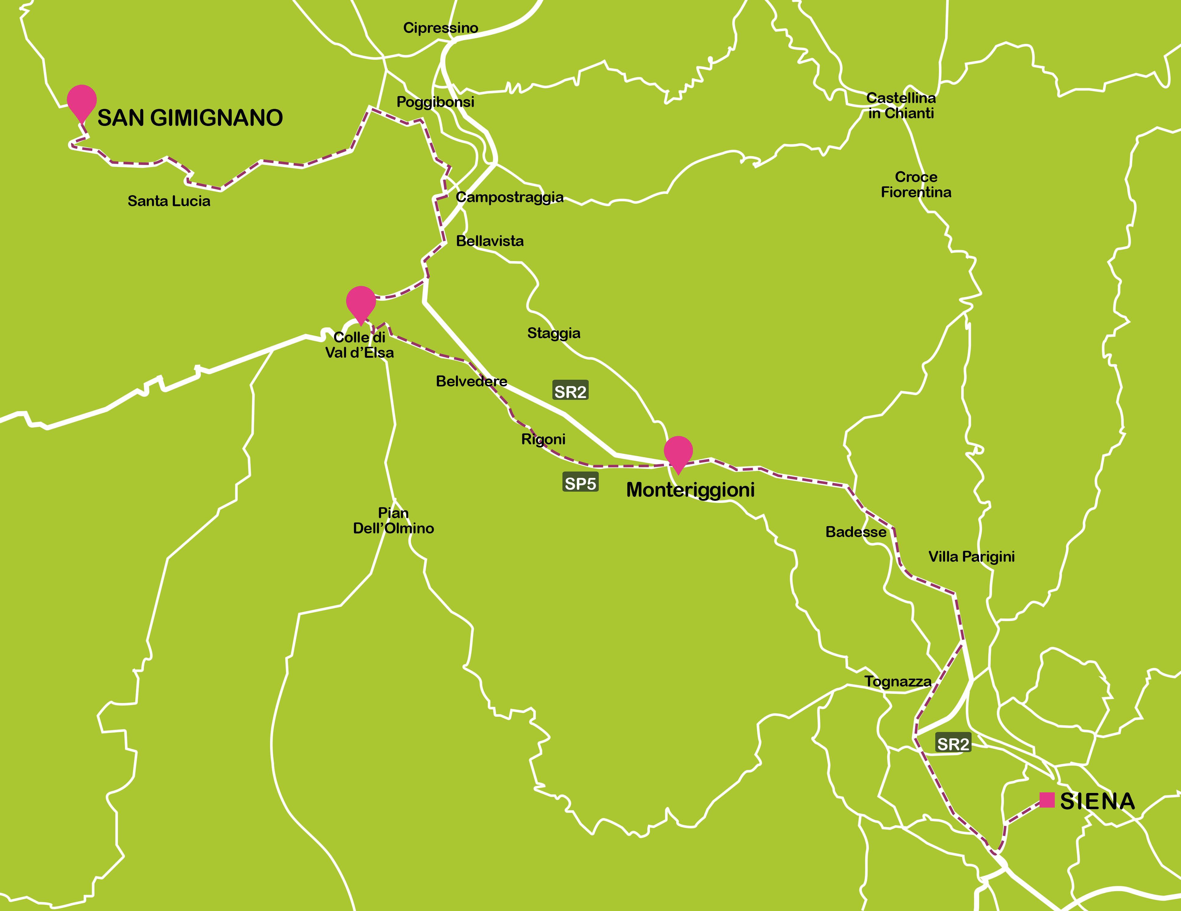 Norte de la Toscana: Monteriggioni, San Gimignano