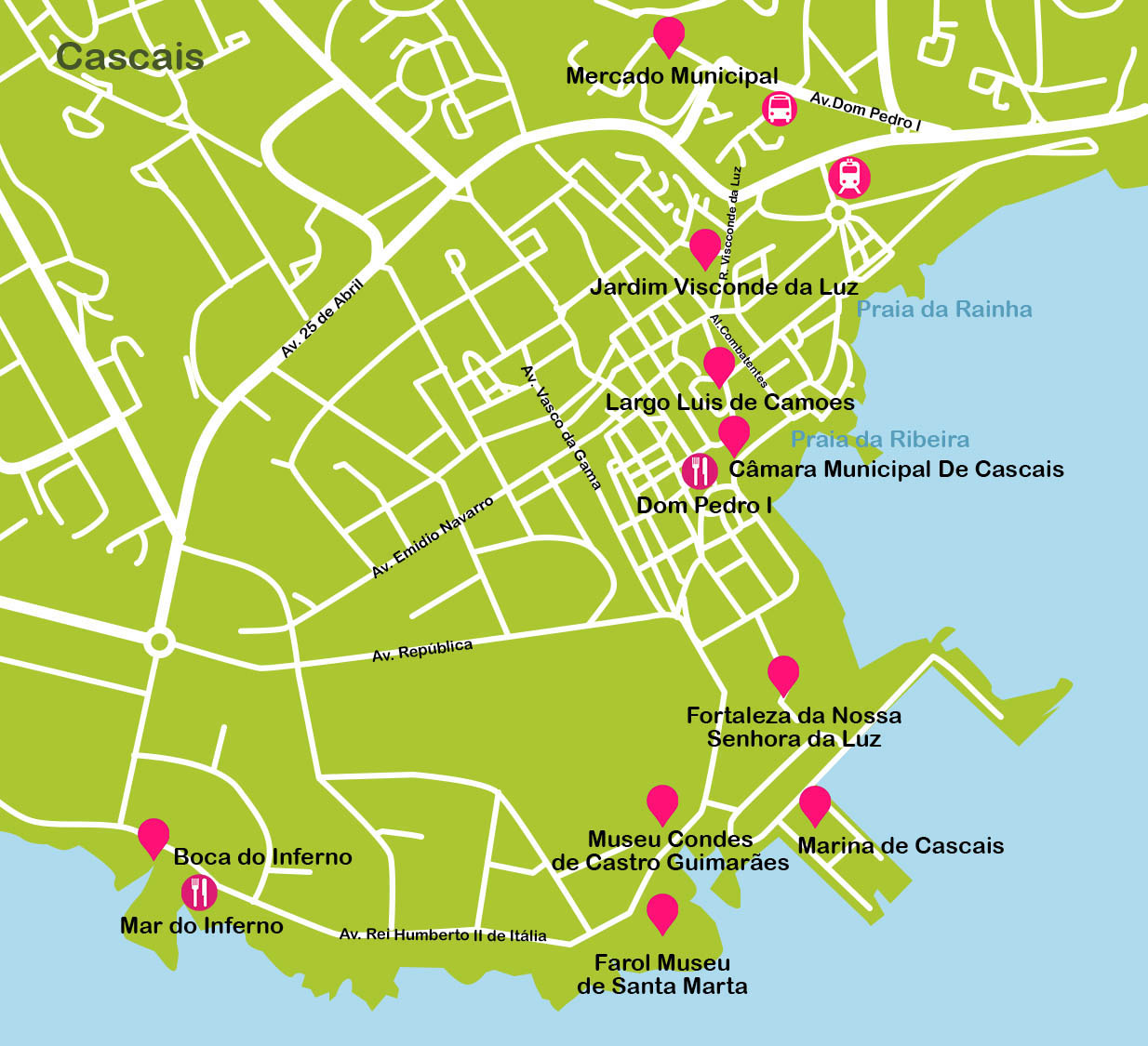 Cascais Travel Map Cascais Plane