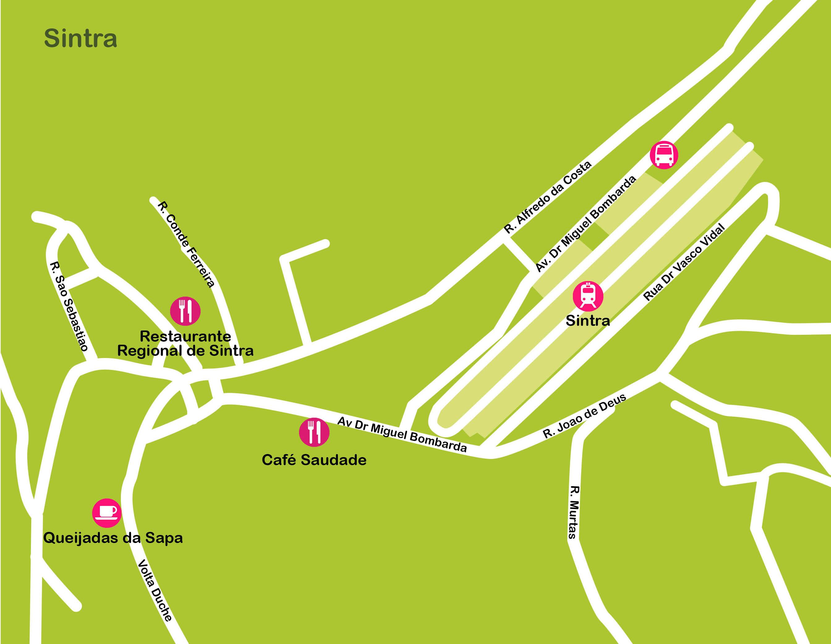 Mapa de Lisboa. Sintra