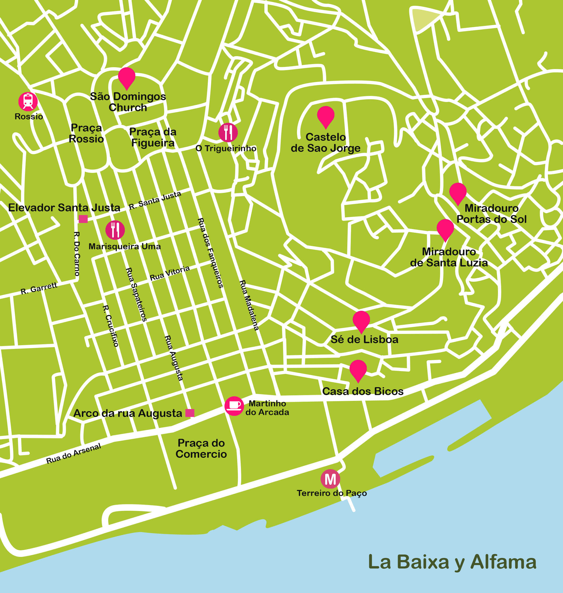 mapa de alfama lisboa Lisbon travel map | Lisbon plane mapa de alfama lisboa