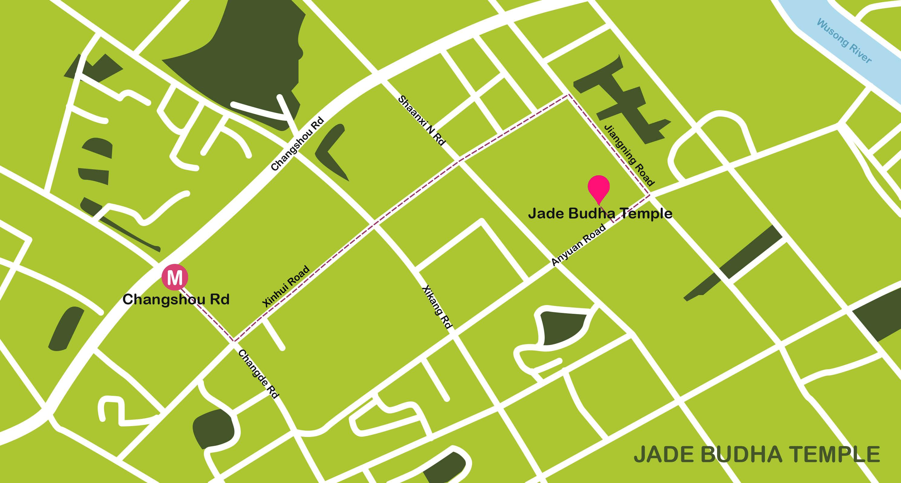 Mapa de Shanghai. Jade Budha Temple