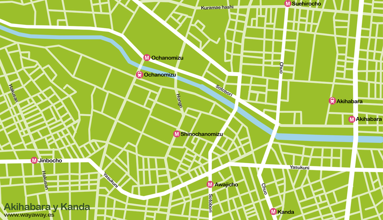 Mapa de Tokio: Akihabara y Kanda #onlyes