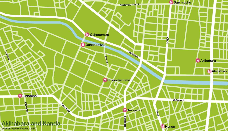Map of Tokyo: Akihabara and Kanda #onlyen