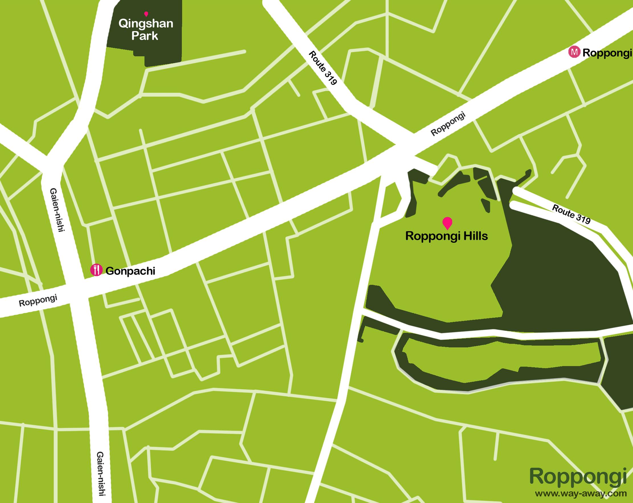 Map of Tokyo: Roppongi #onlyen