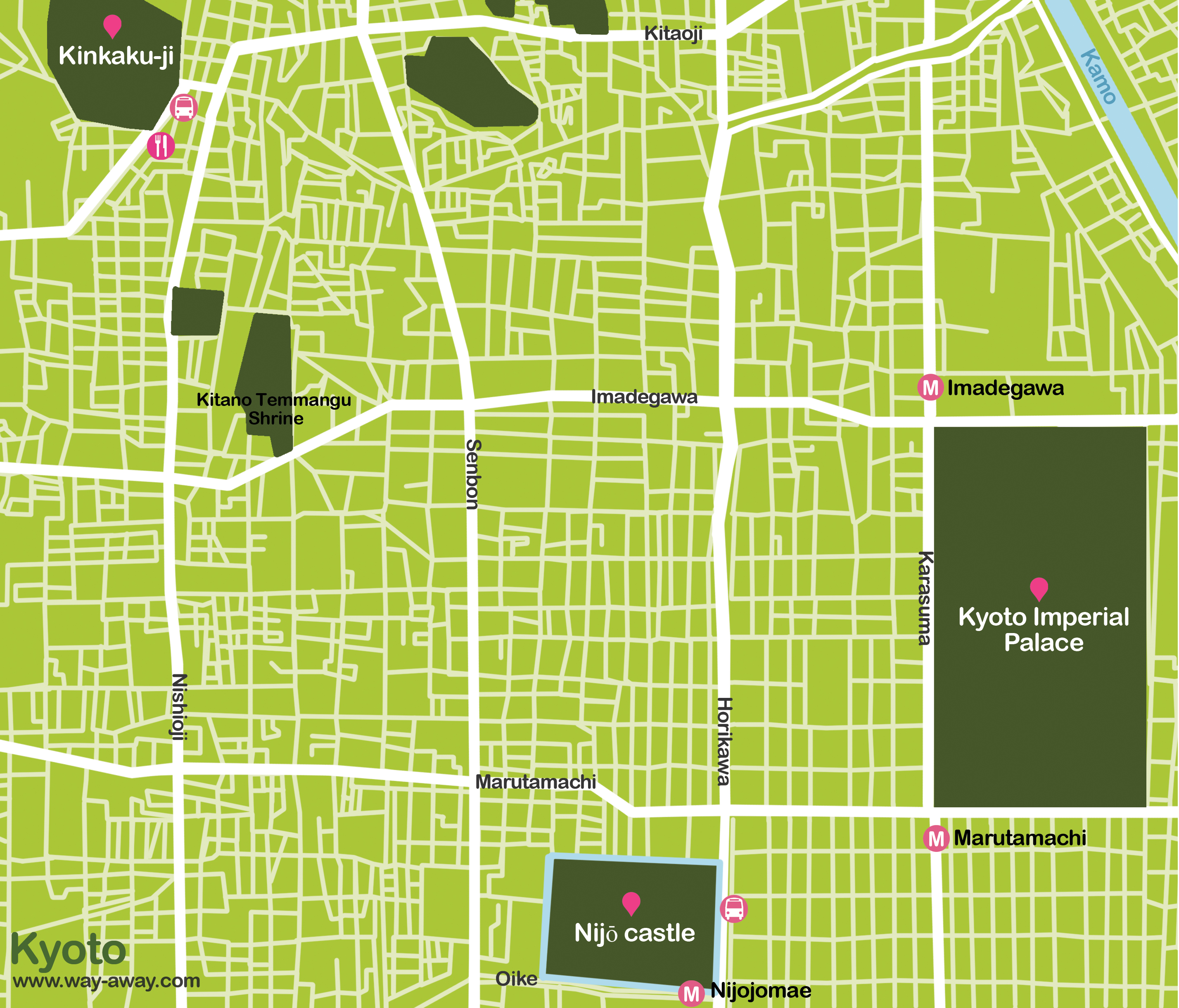 Map of Kyoto: temples #onlyen
