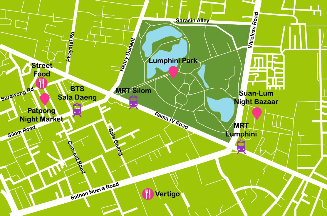 Mapa_1. Bangkok_Silom