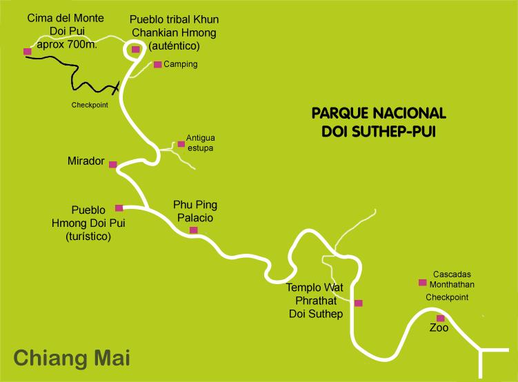 Mapa_7. Chiang Mai_Parque_Nacional_Doi_Suthep_Pui