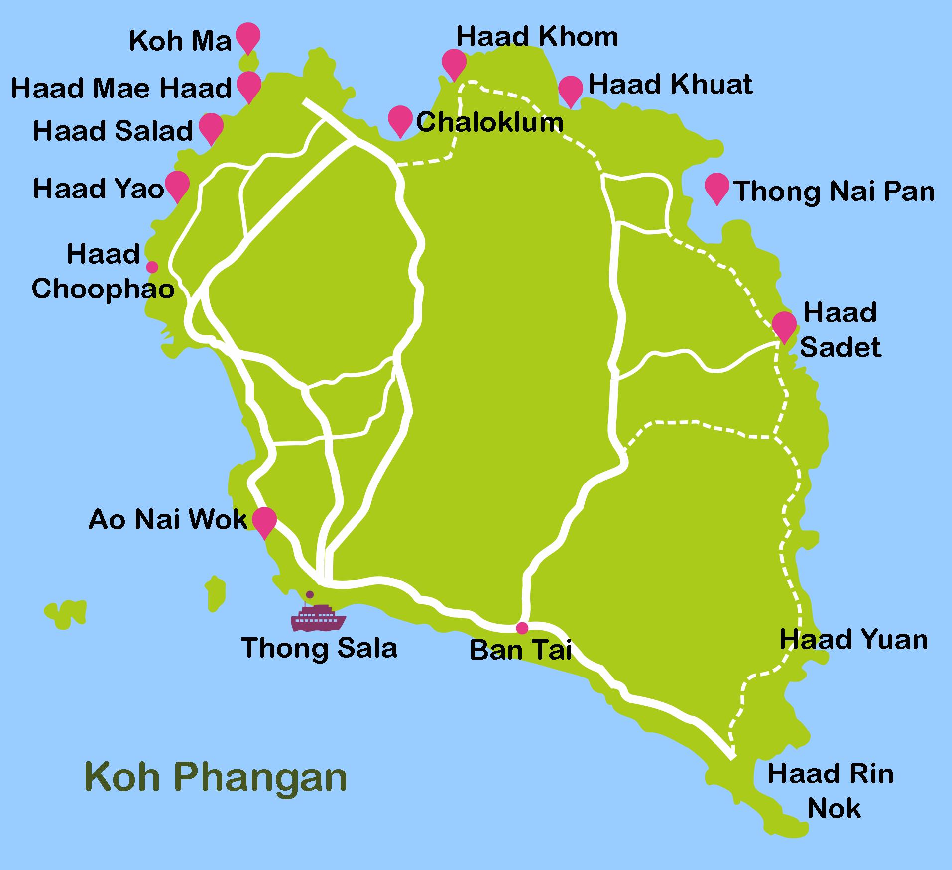Mapa_12. Koh Phangan