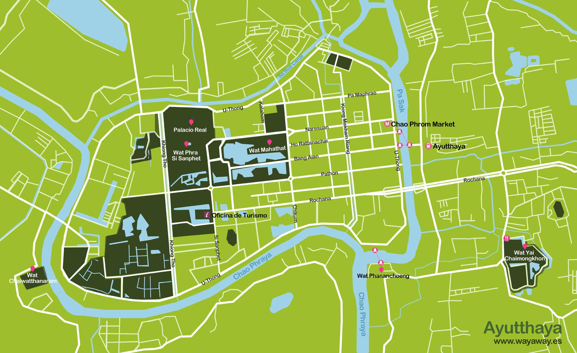 Mapa_Tailandia_5B. Ayutthaya