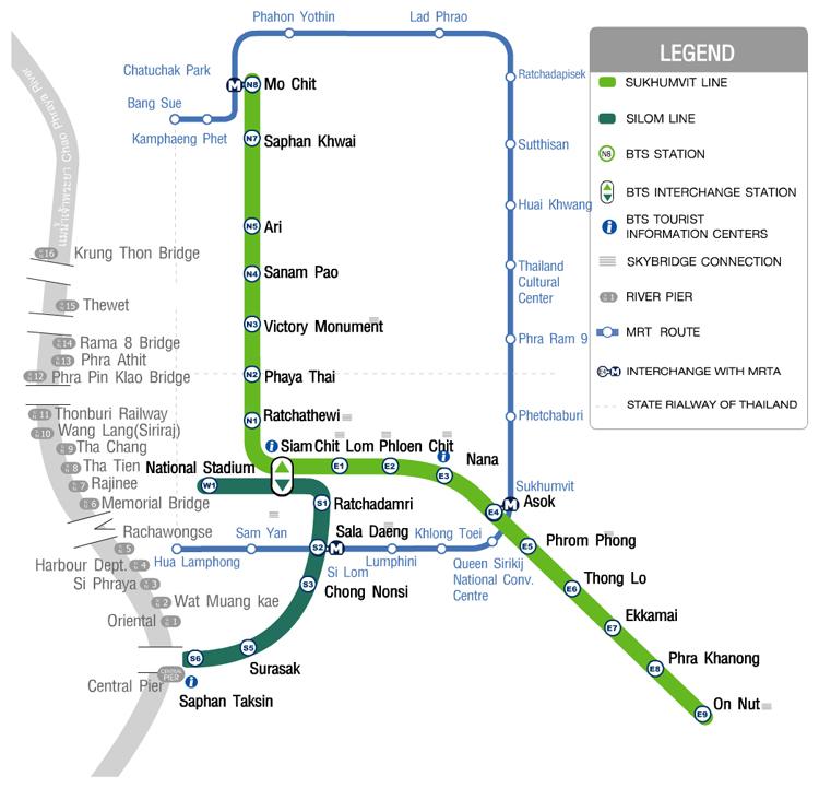Mapa_Tailandia_5D. Mapa Transporte público Bangkok