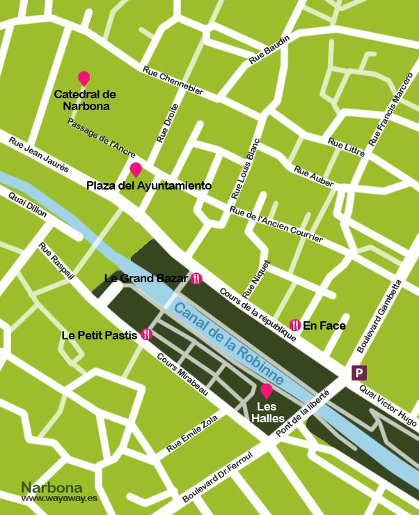 Mapa Narbona