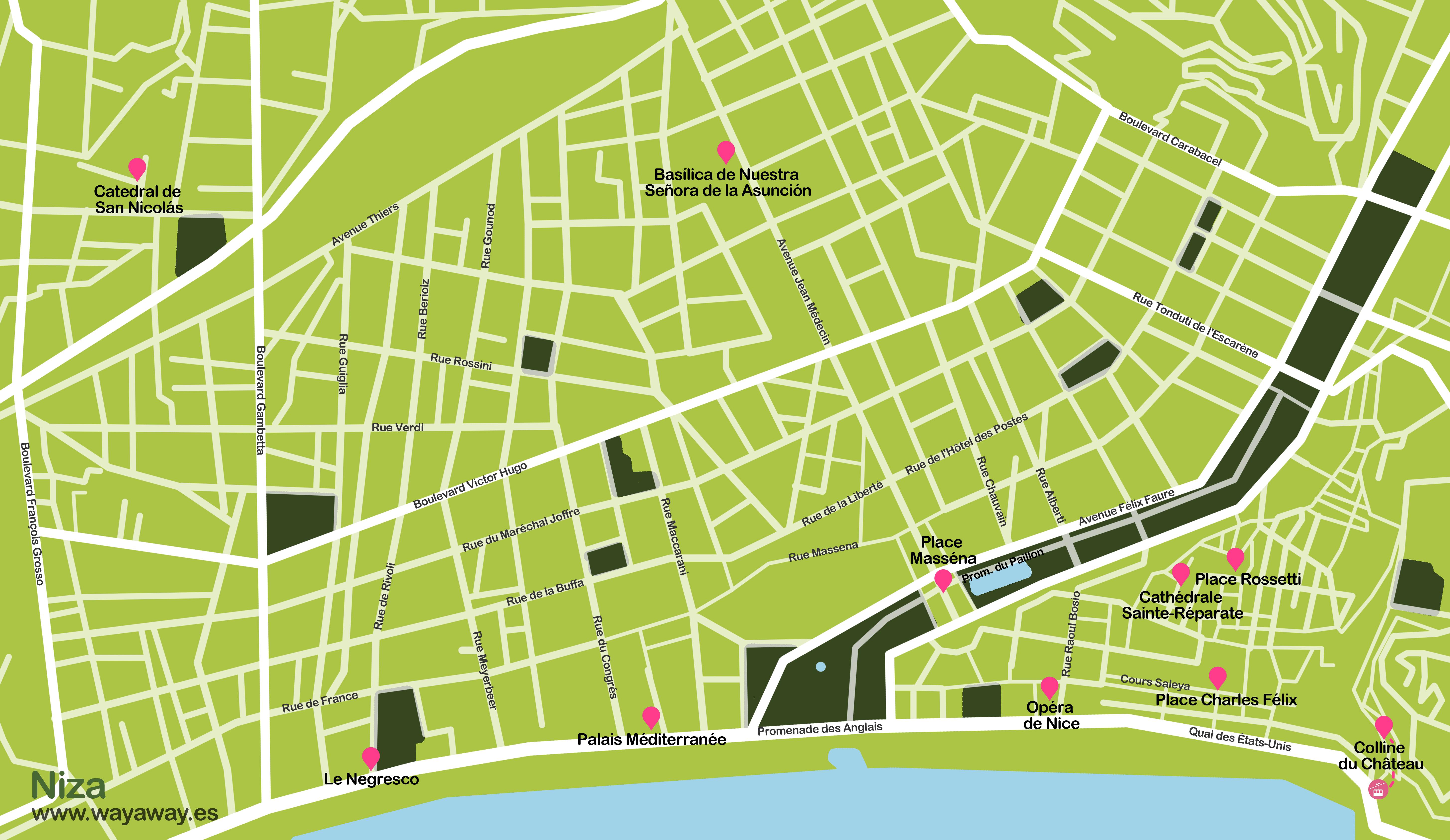 Mapa Niza