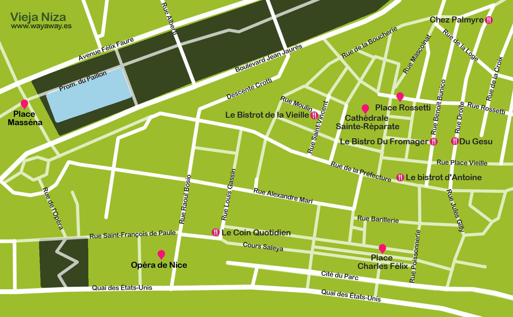 Mapa Vieja Niza