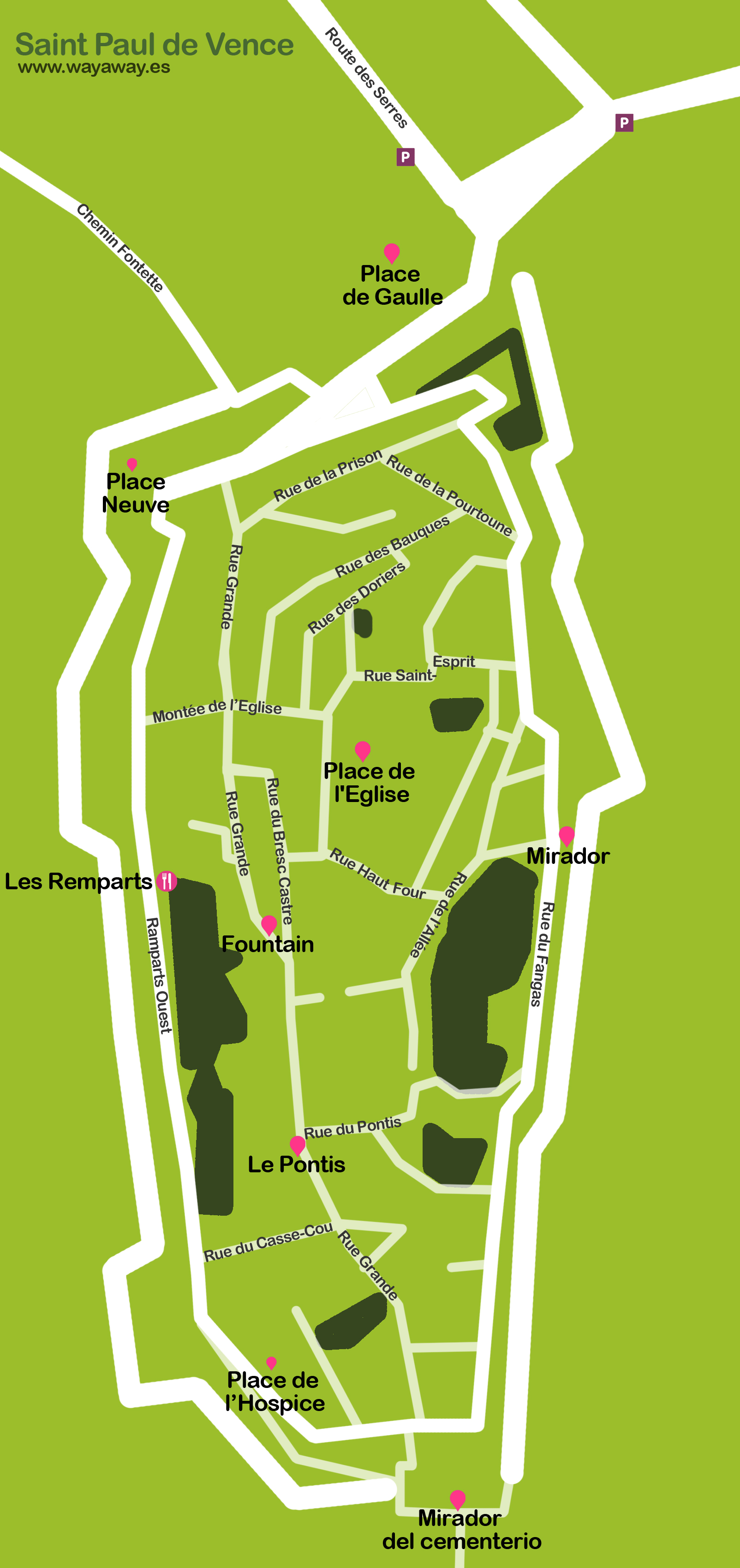 Mapa Saint Paul de Vence