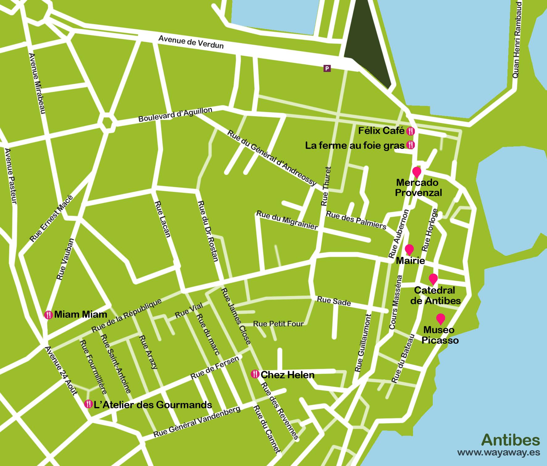Mapa antibes I
