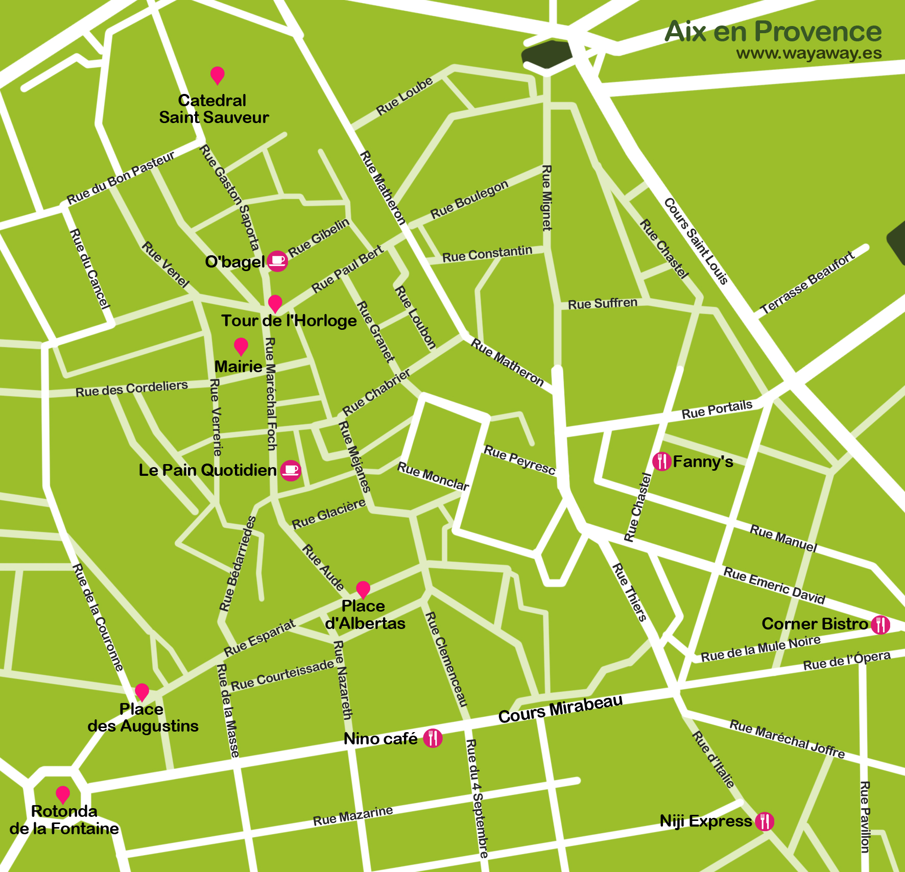 Aix en Provence travel map Aix en Provence plane