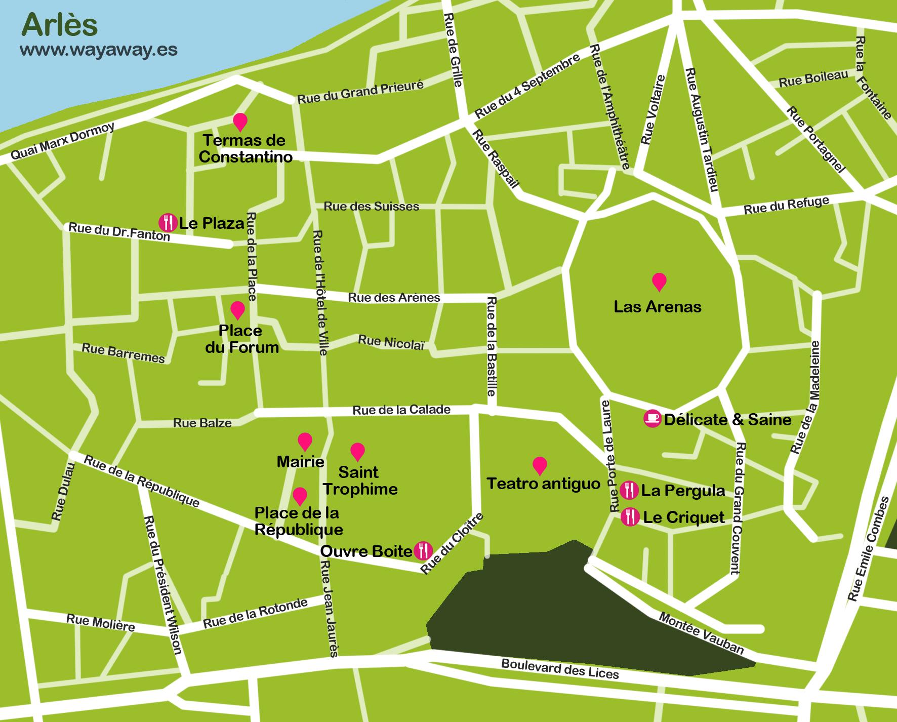 Mapa Arles